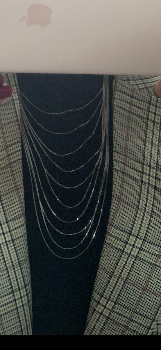 Шейное украшение из 10 цепочек