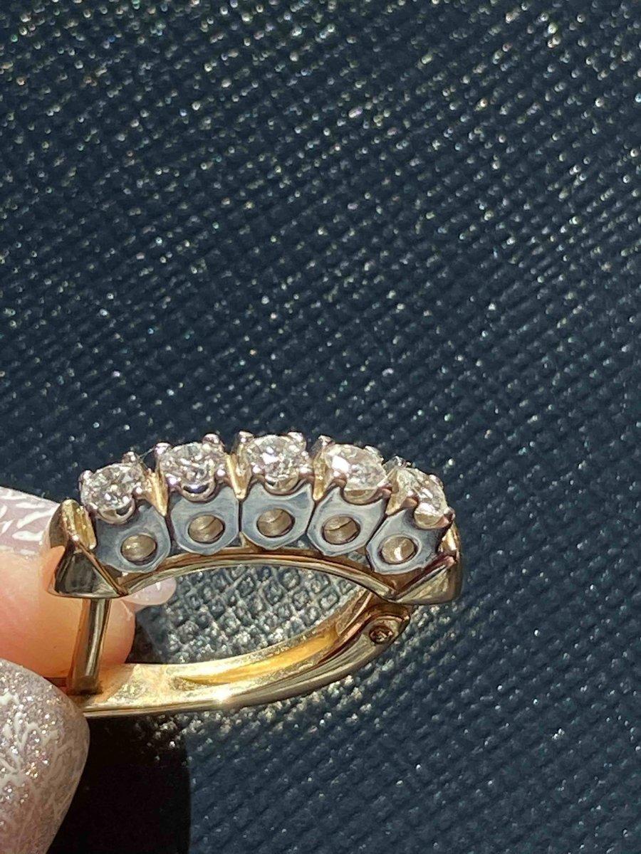 Серьги с бриллиантами '' бриллианты якутии''
