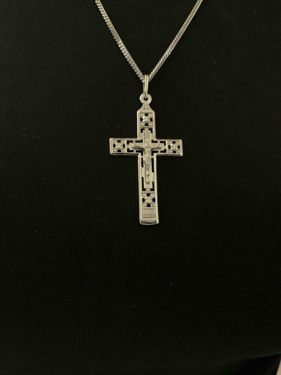 Крест инкрустированный бриллиантами