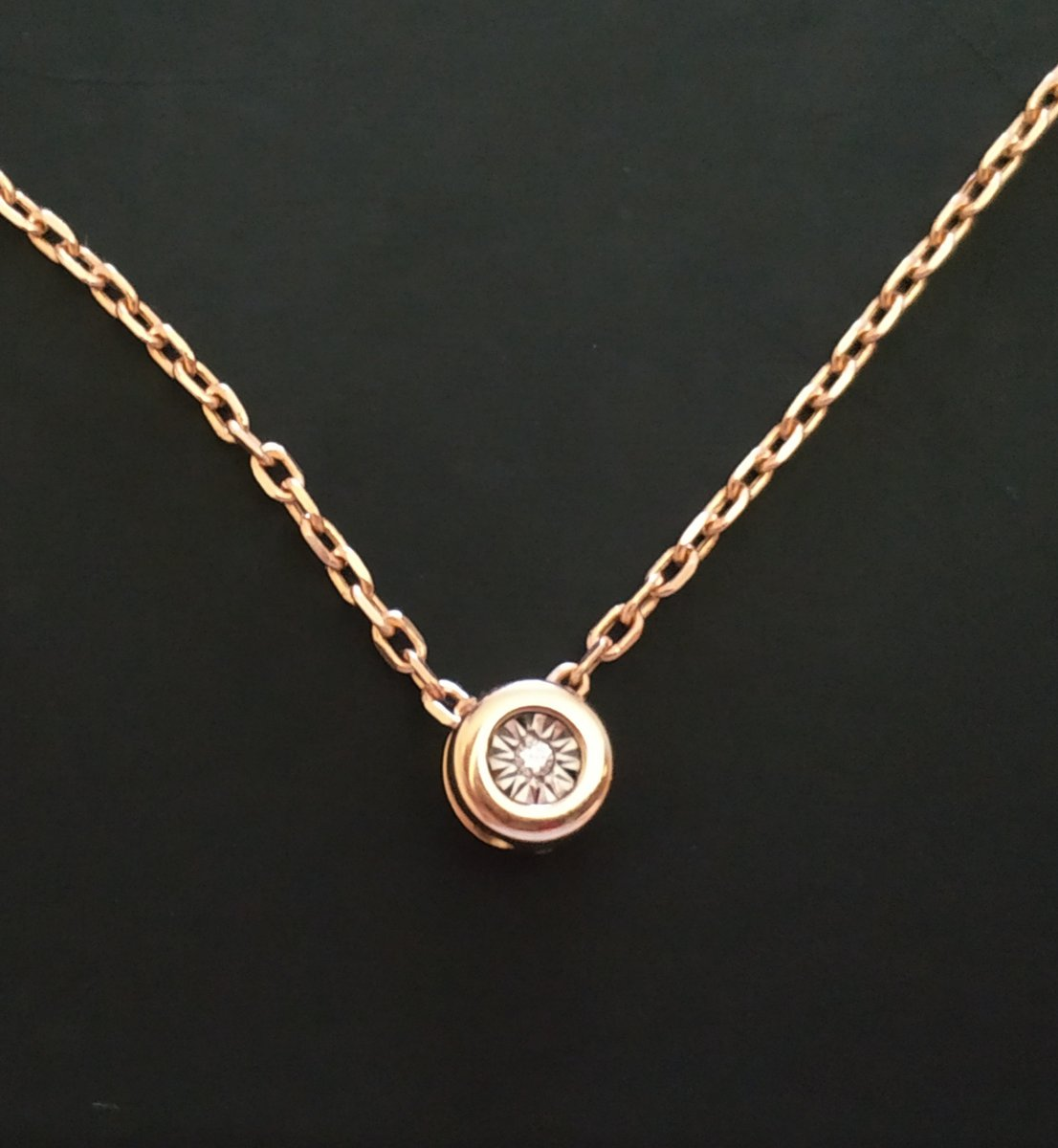 Цепочка из розового золота