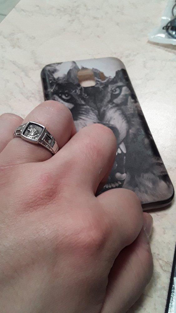 Печатка серебрянная с изображением волка