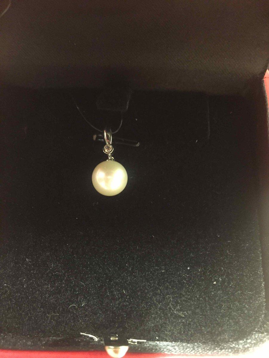 Золотая подвеска с жемчугом и бриллиантом