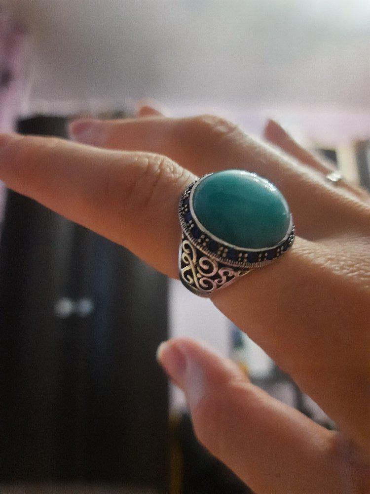 Перстень с амазонитом