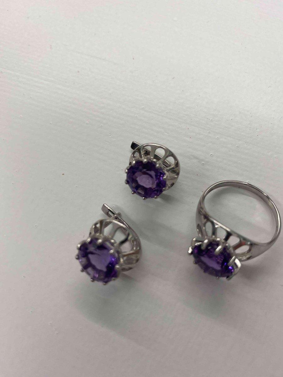 Сережки фиолетовое чудо!
