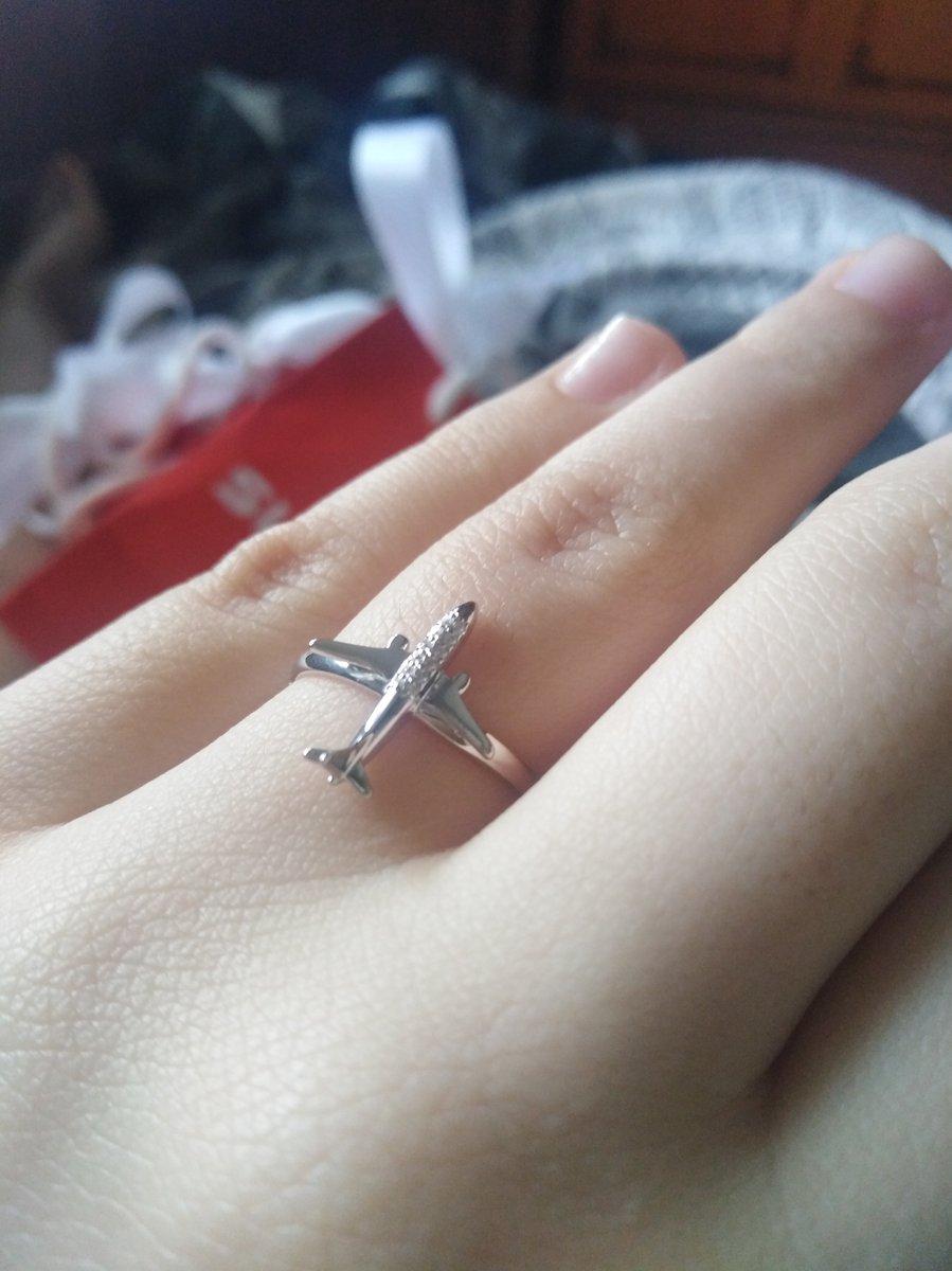 Кольцо с самолетом