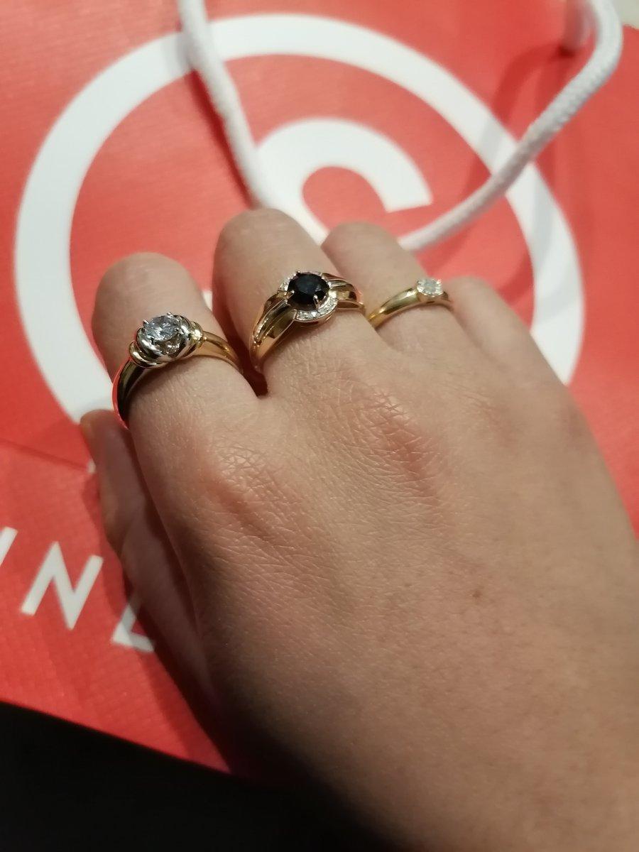 Золотое кольца с сапфиром