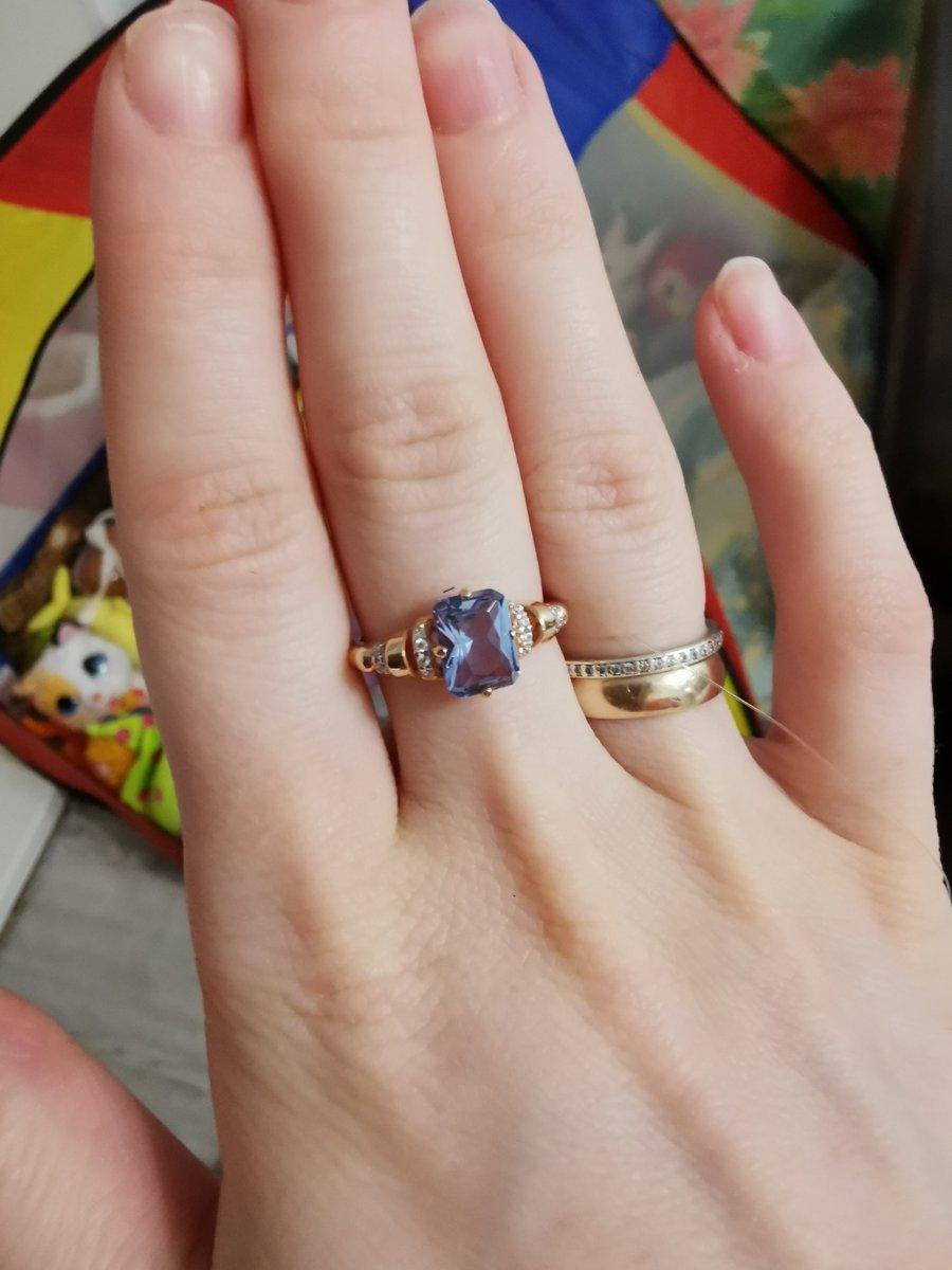Кольцо с турмалином.