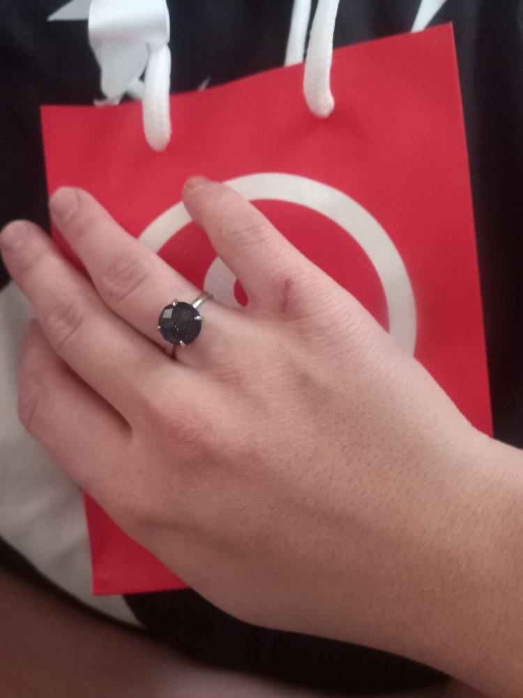 Серебряное кольцо с керамикой и алпанитом
