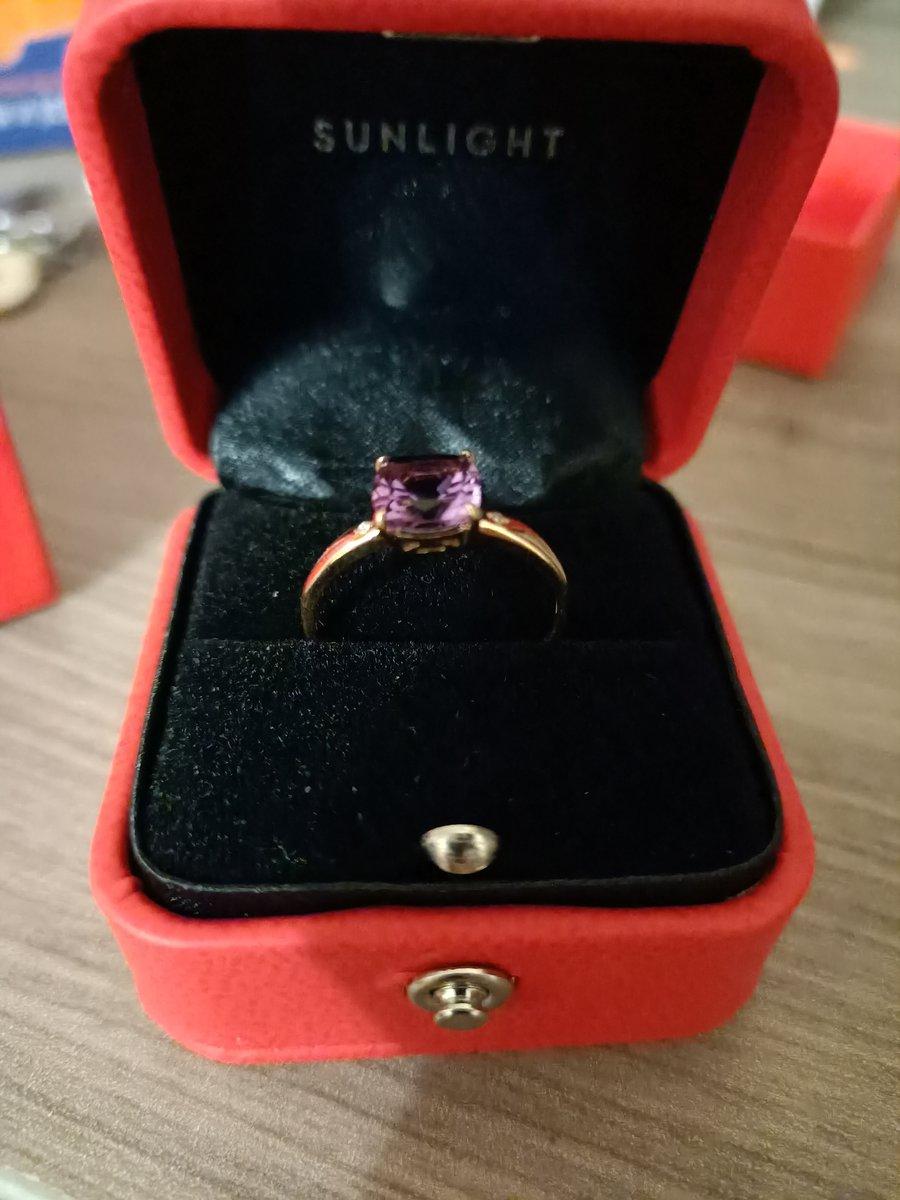Золотое кольцо с бриллиантами и аметистом!