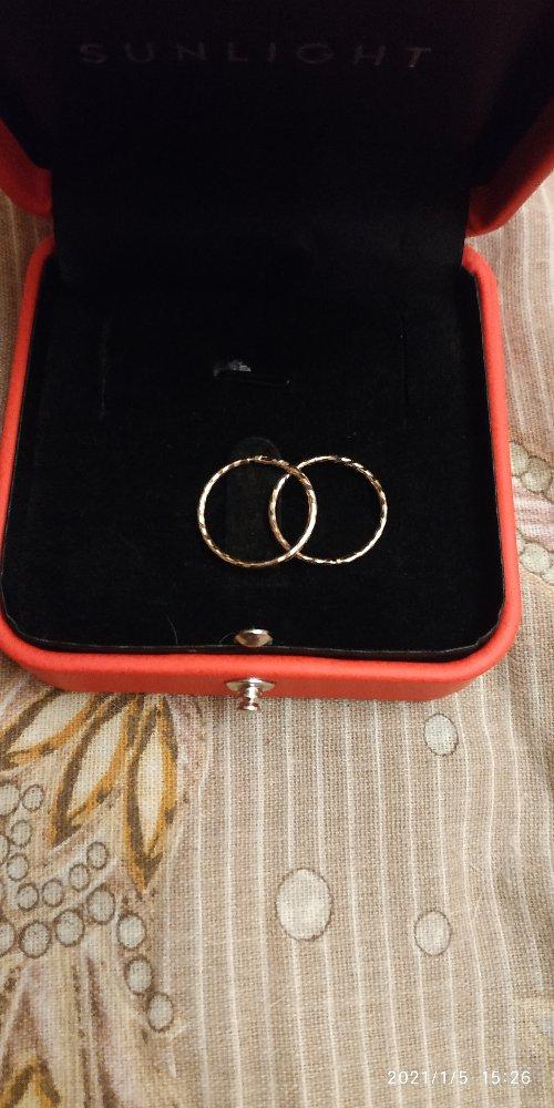 Серьги кольца