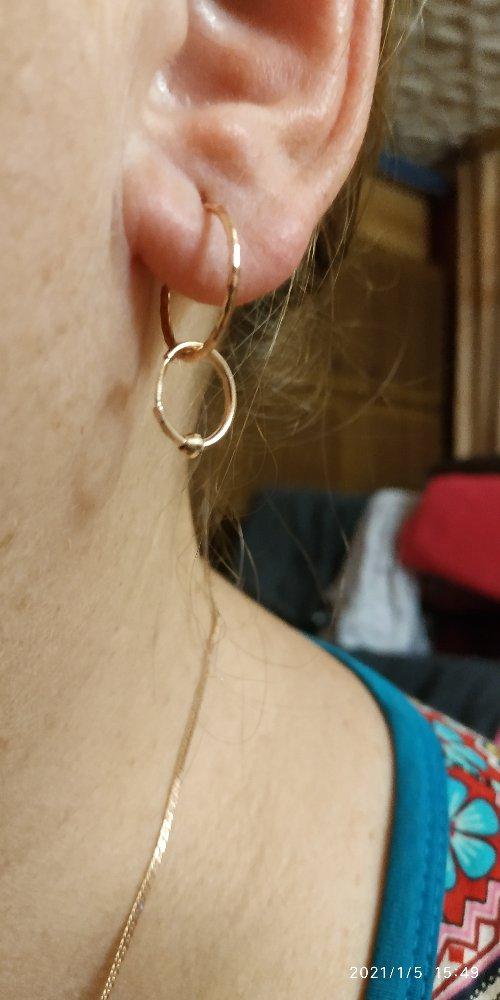 Серьги кольца с шариком