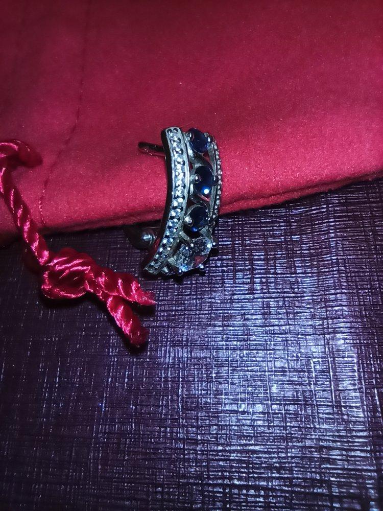 Красивые синие серьги