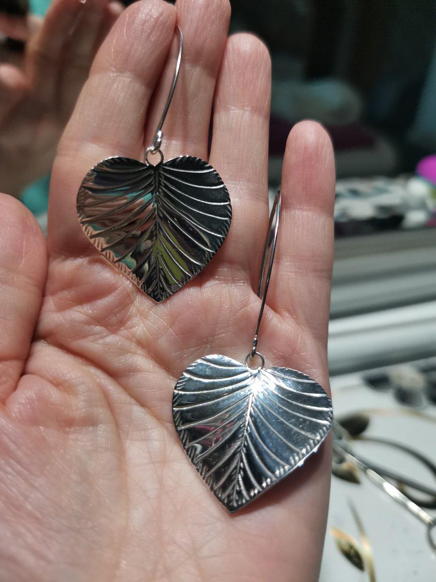 Серьги серебряные листопад