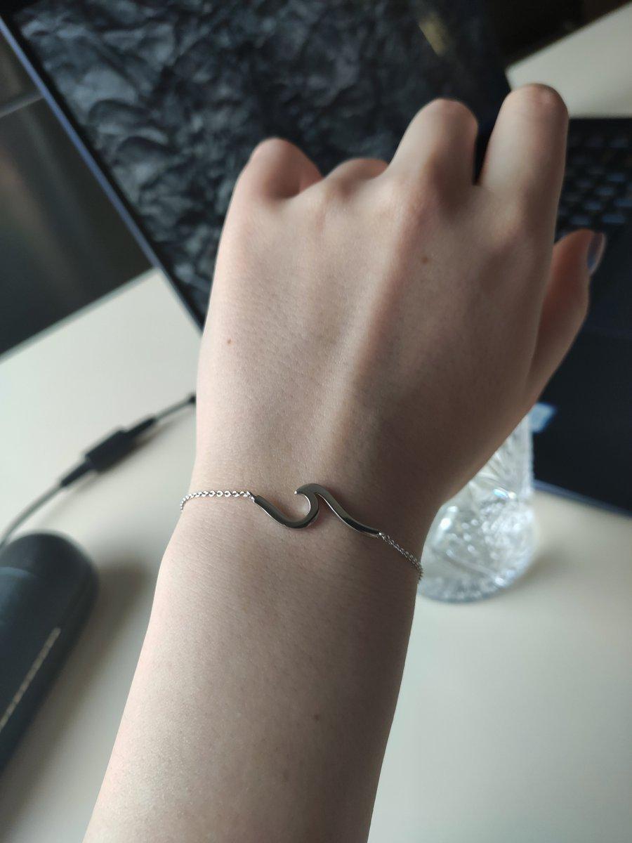 Серебряный браслет утонченный минимализм