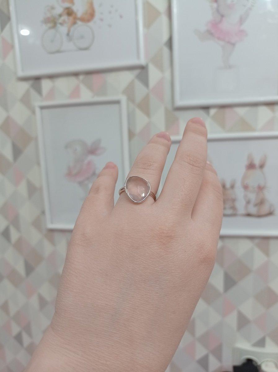 Нетривиальное кольцо с розовым кварцем
