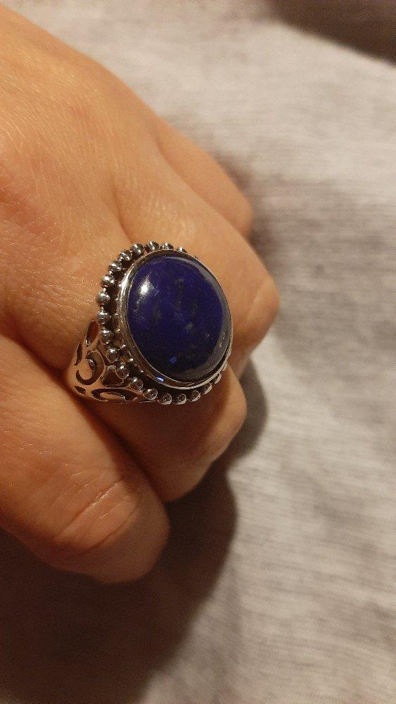 Серебряное кольцо с лазуритом.