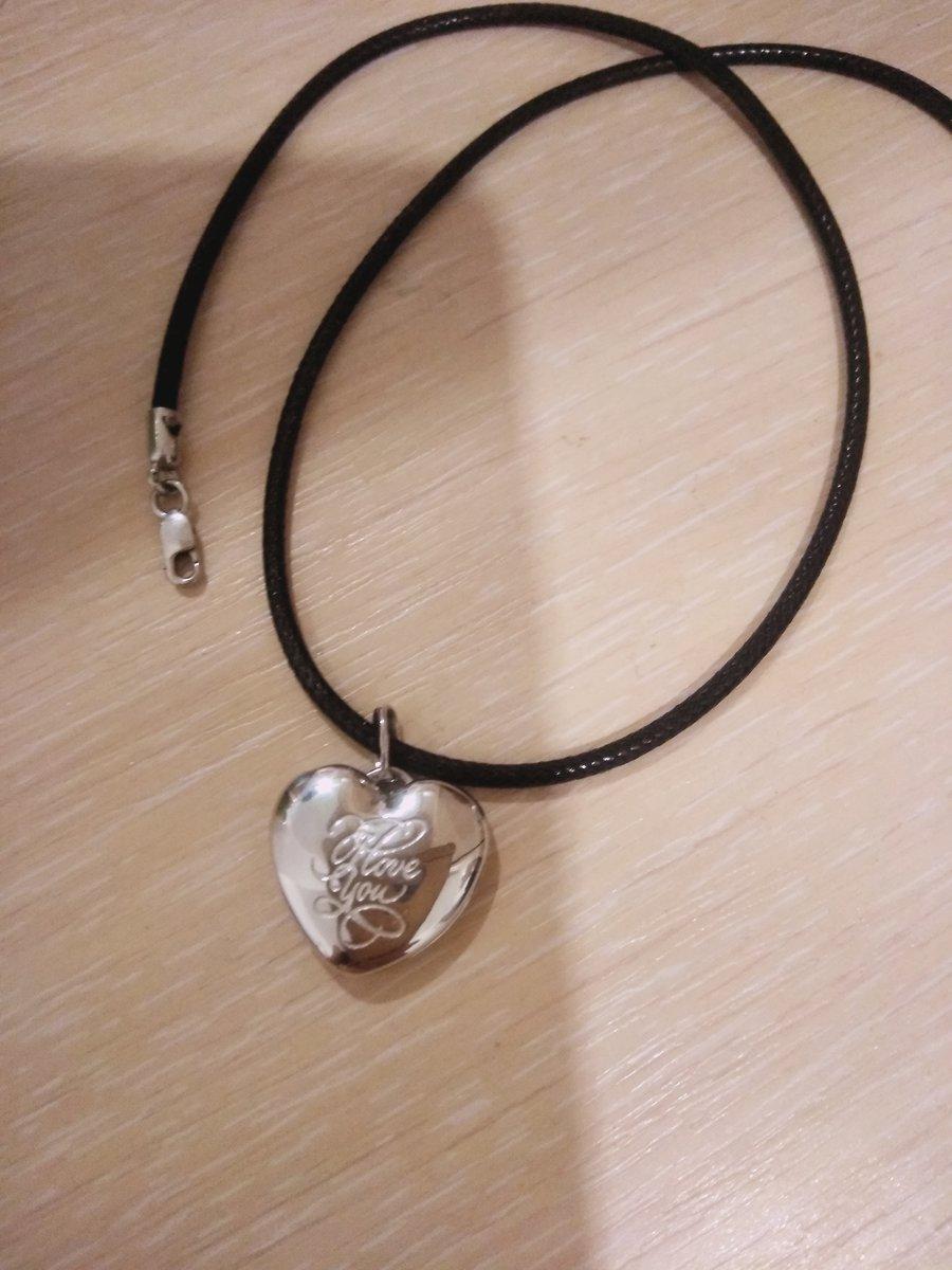 Серебряная подвеска в виде сердечка