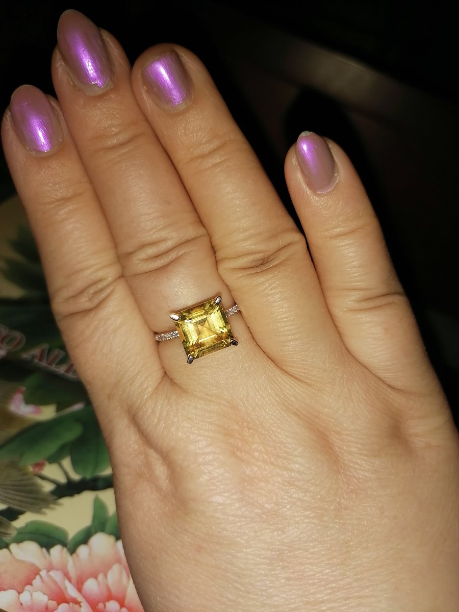 Кольцо с цитрином.