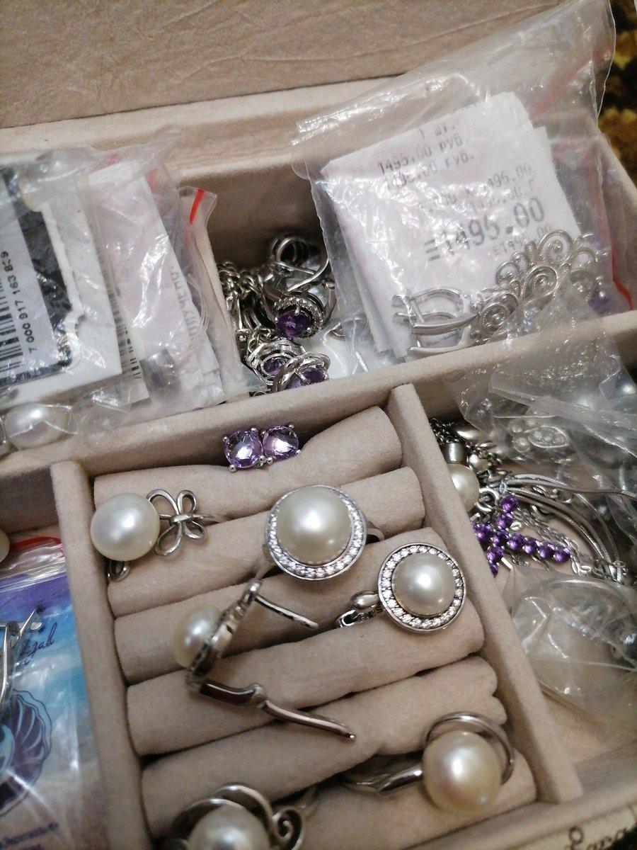 Серёжки серебряные с жемчугом