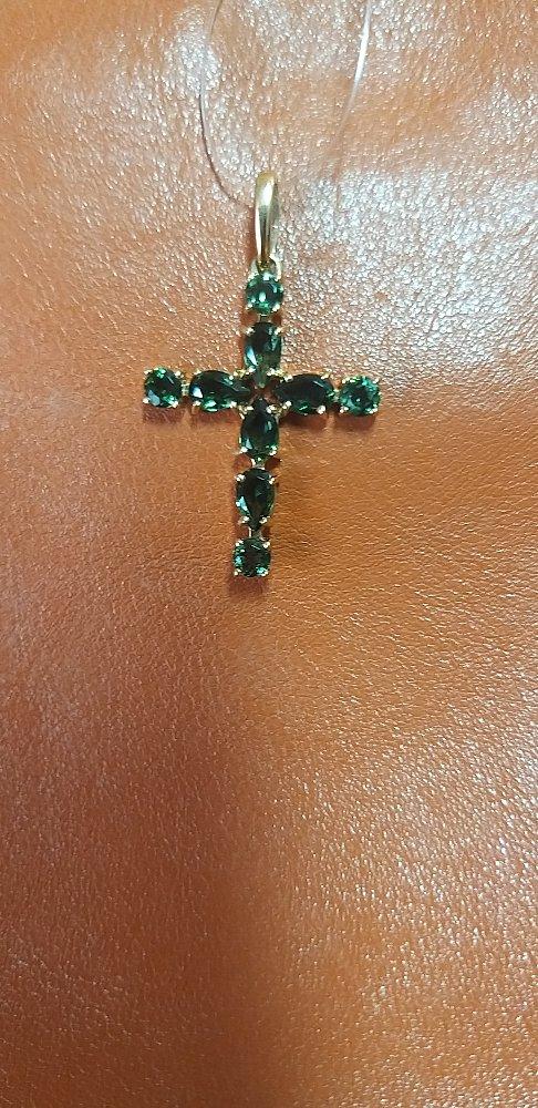 Крест с турмалинами.
