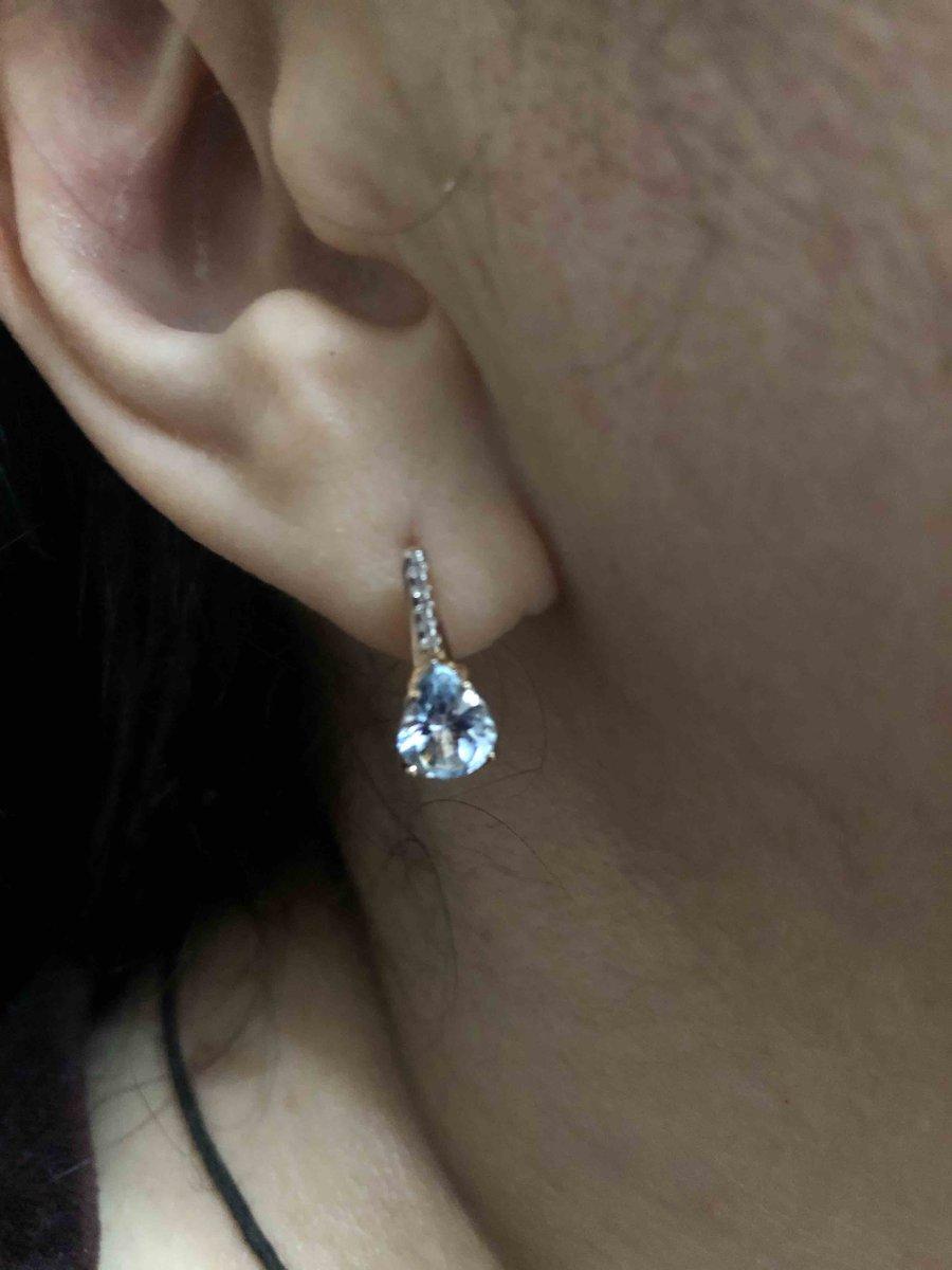 Сережки с топазами и бриллиантами