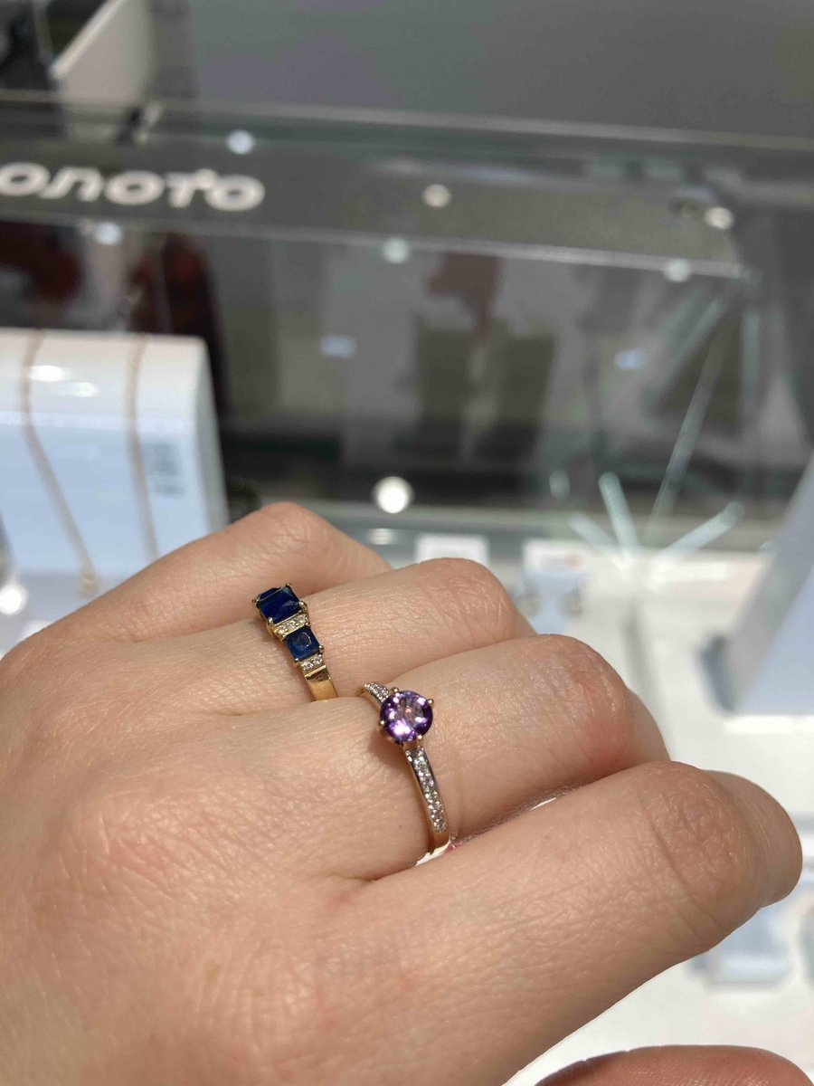 Кольцо с фиолетовым камнем