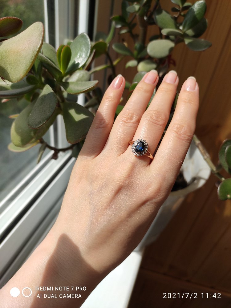 Кольцо в стиле известного кольца принцессы Дианы.