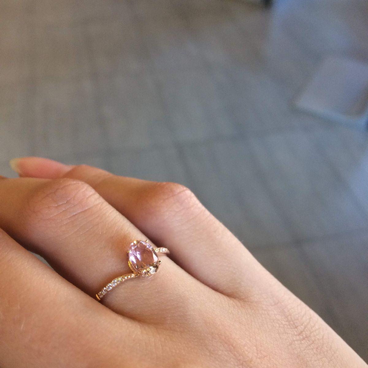 Нежное и безумно красивое кольцо с морганитом 😍