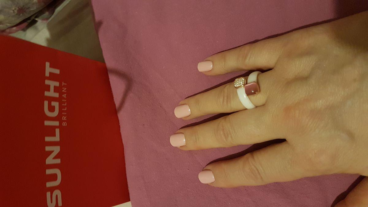 Кольцо из керамики.Кошачий глаз+фианиты.