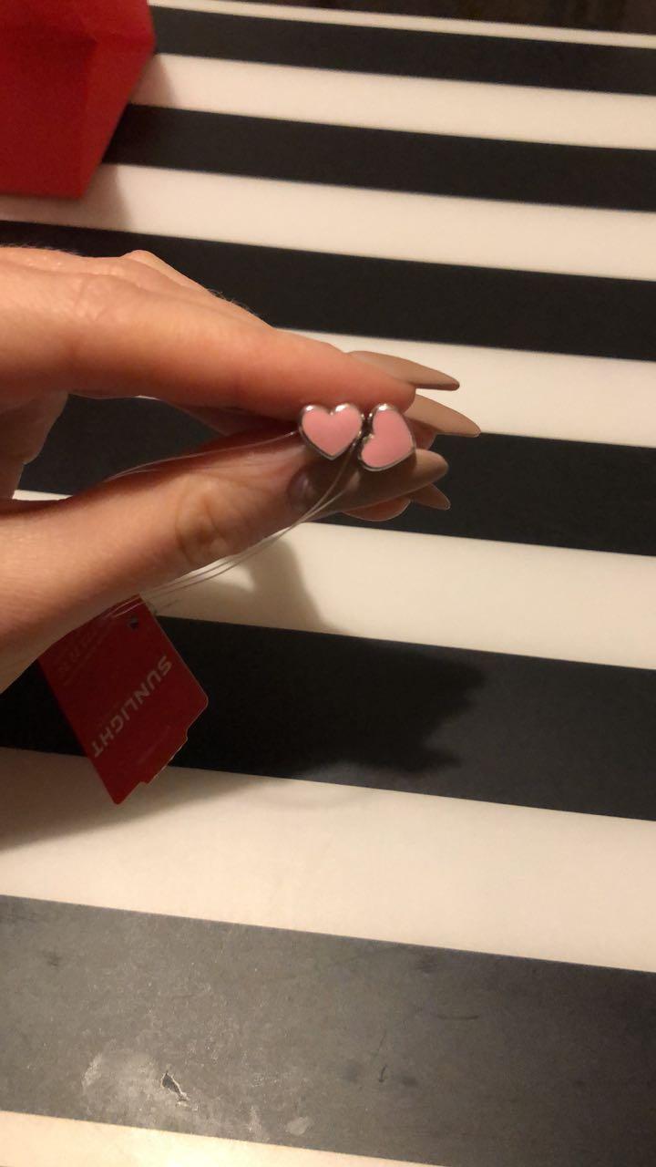 Сердечки с эмалью