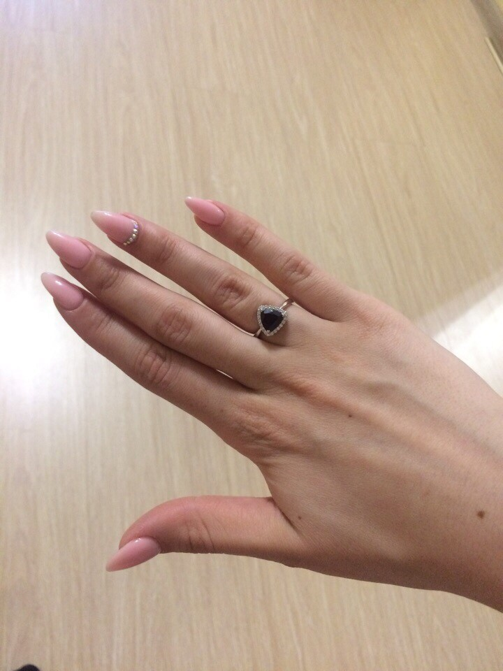 Необычно нежное кольцо!