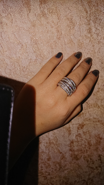 Очень понравилось кольцо! Влюбилась с первого взгляда! Массивное! Красивое!