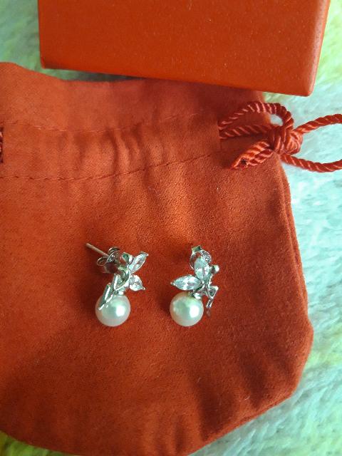Серьги серебро и жемчуг