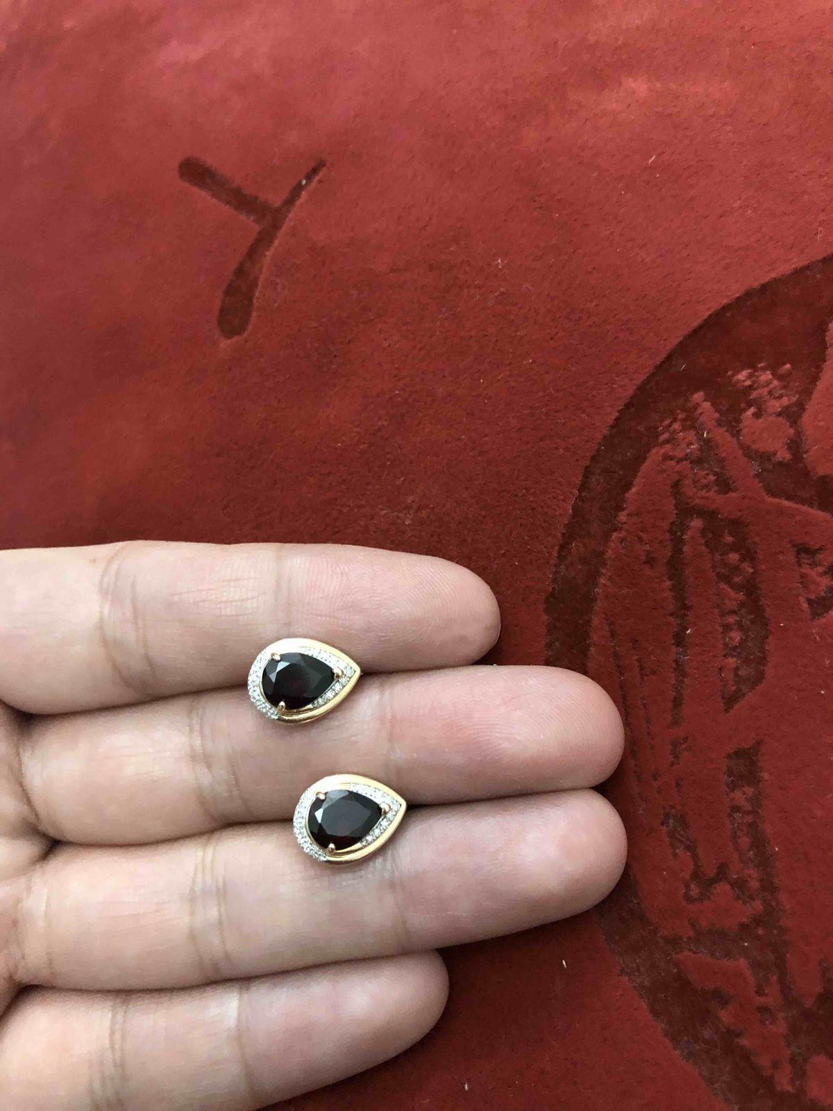 Сережки с гранатами