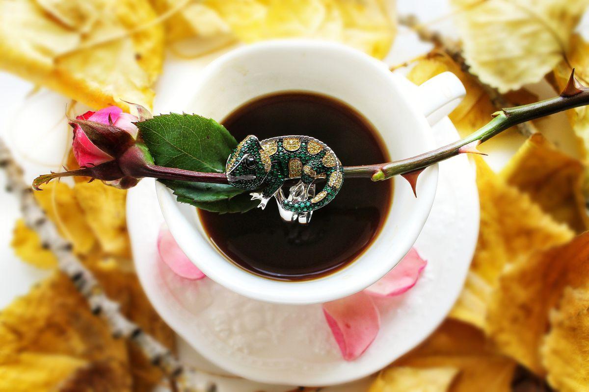 Шикарное кольцо - хамелеон