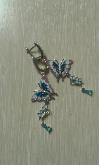 Серьги-бабочки