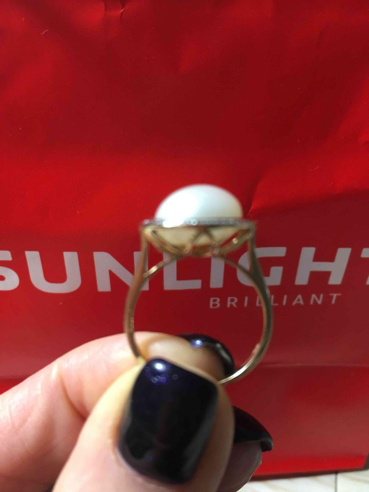 Кольцо с жемчугом желтое золото