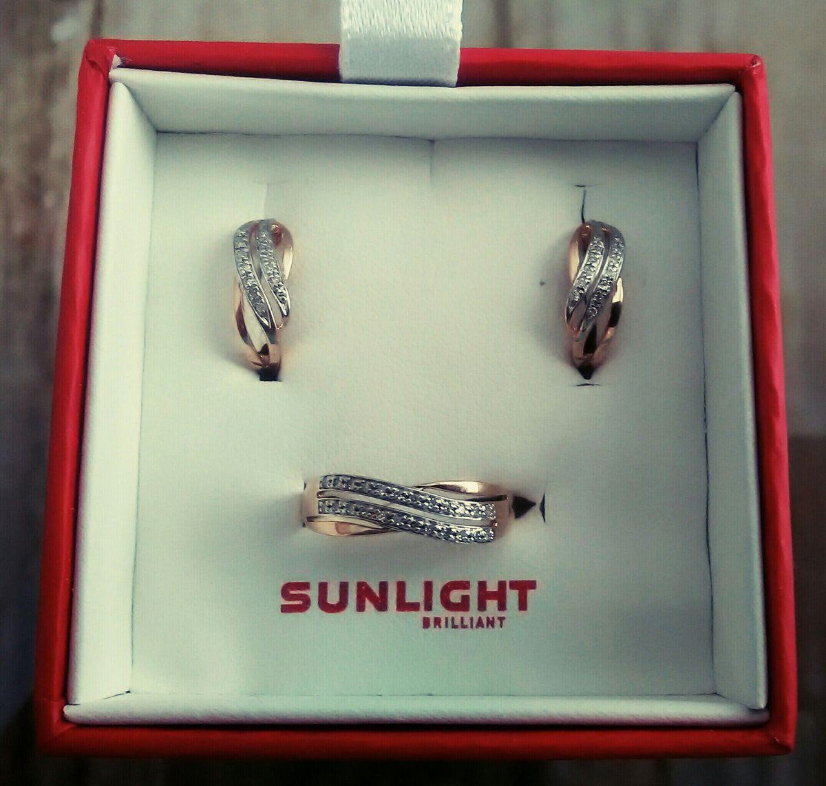 Комплект мечты - серьги и кольцо с бриллиантами