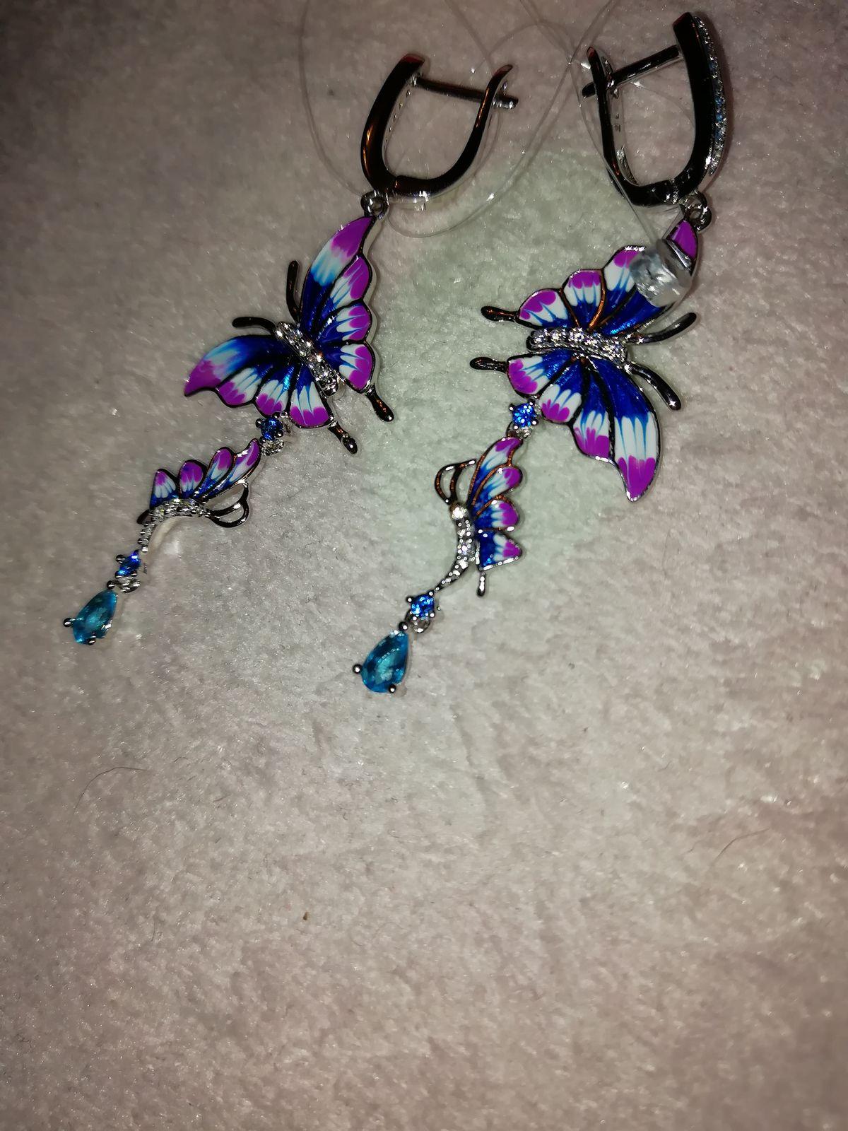 Сережки - бабочки