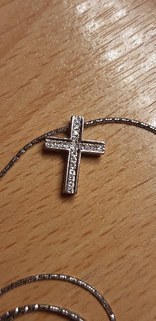 Чудесный крестик с бриллиантами!!!