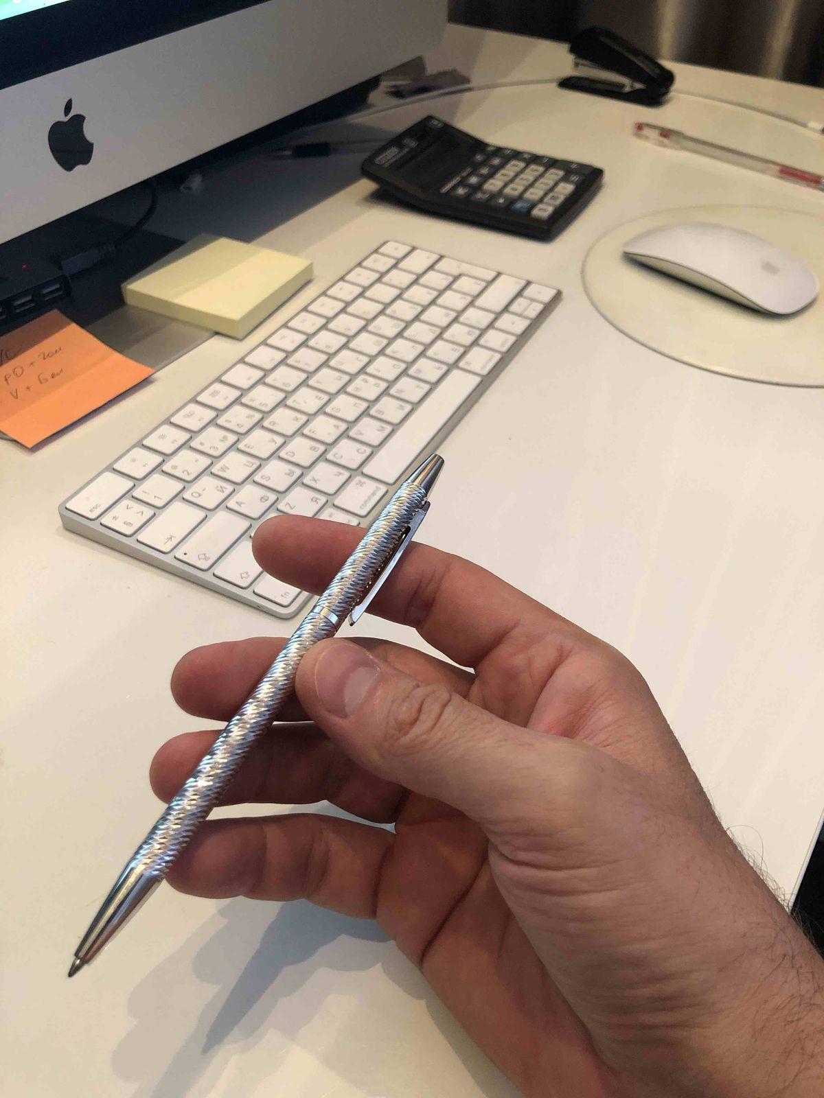 Серебряная ручка