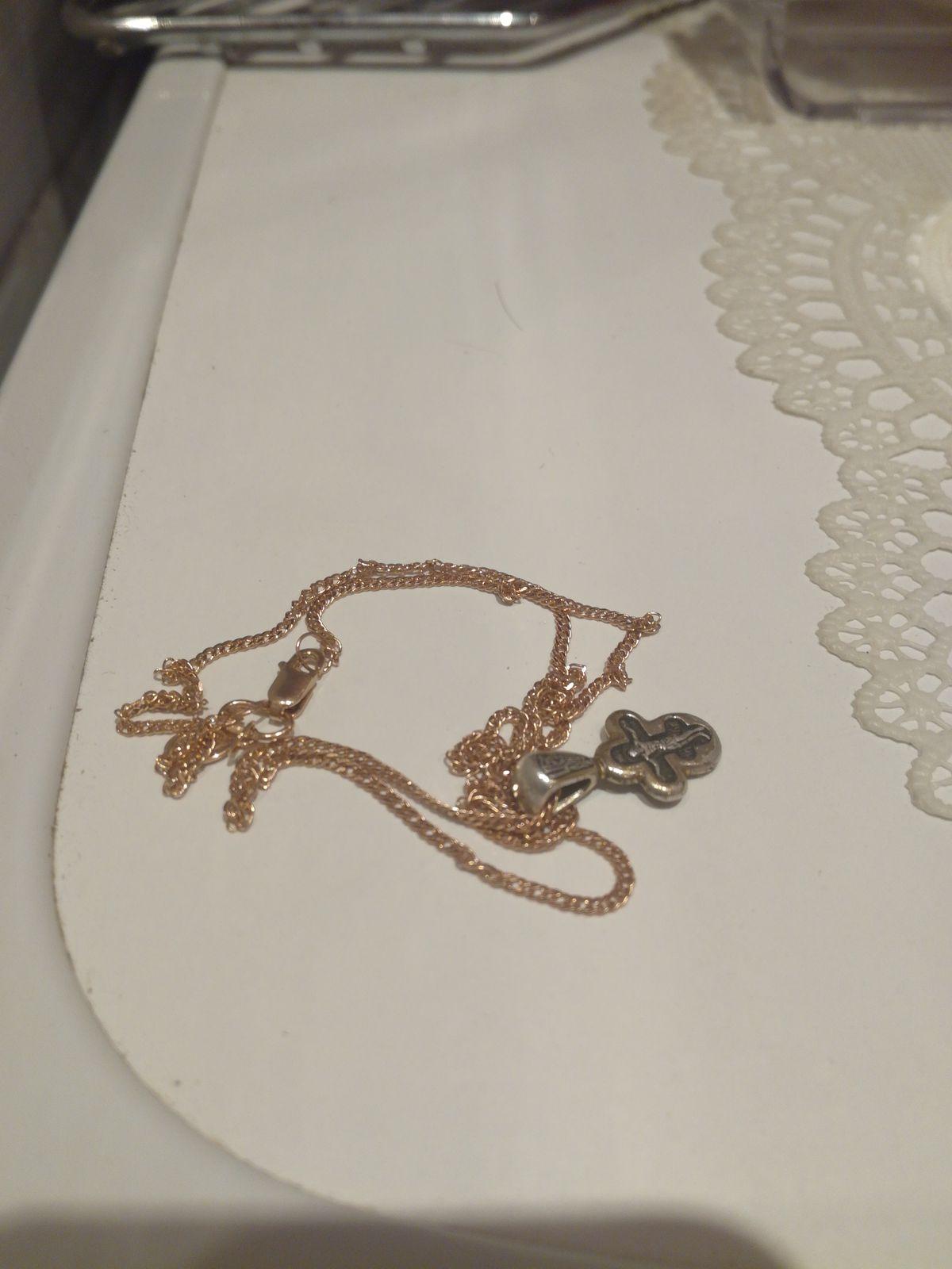 Цепочка розовое золото 45 см