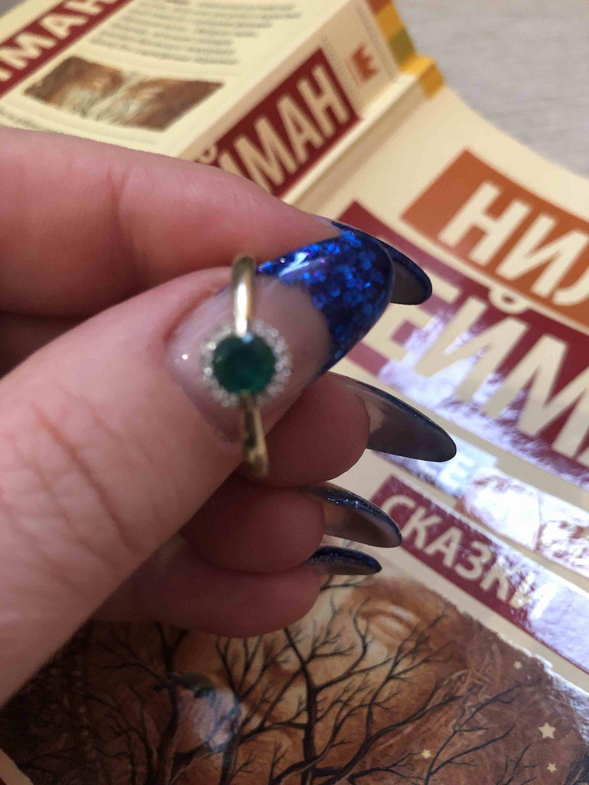 Кольцо с изумрудом!!!
