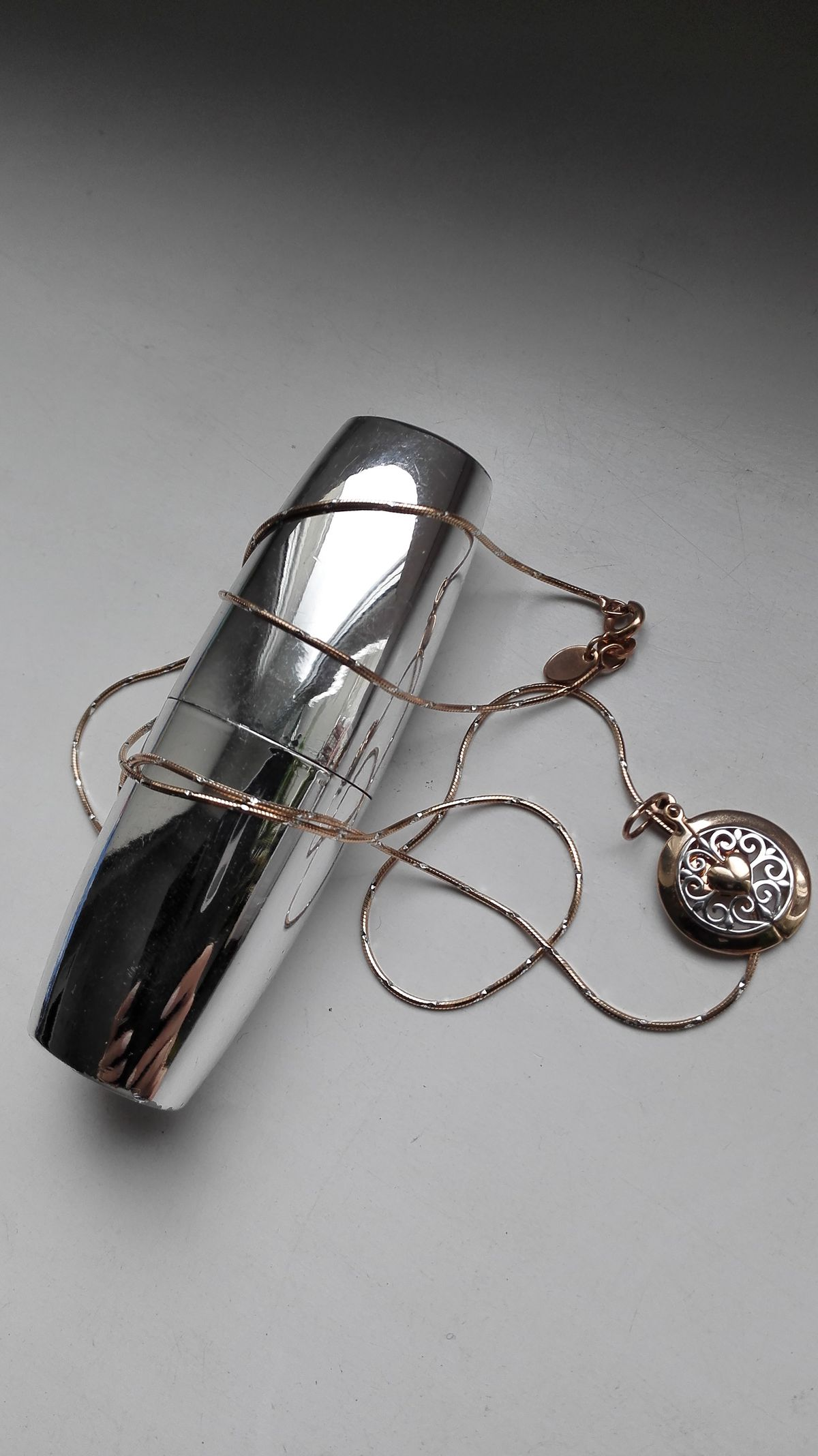 Серебрянная цепочка с позолотой