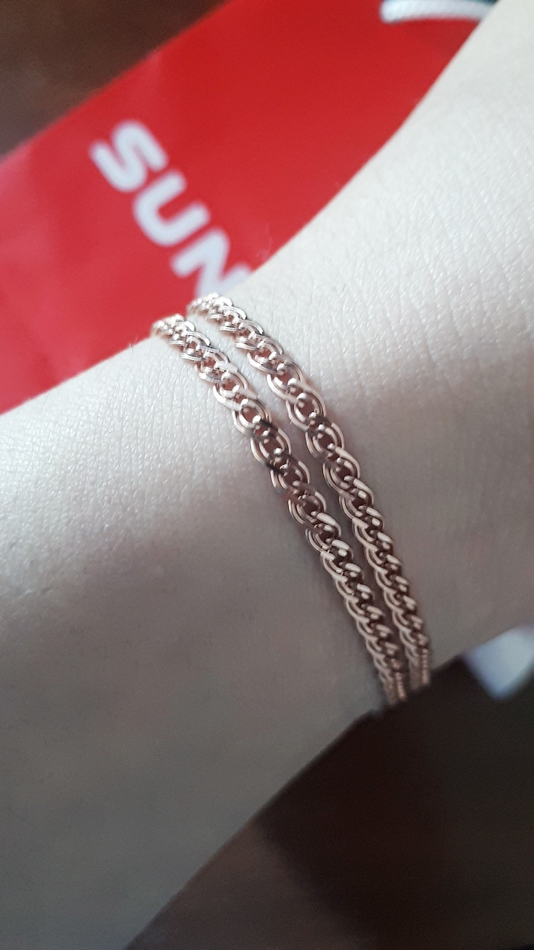 Очень красивая цепочка, серебро под золото