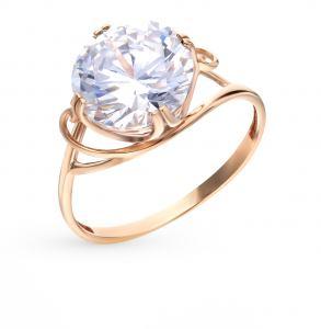 Золотое кольцо с фионитами