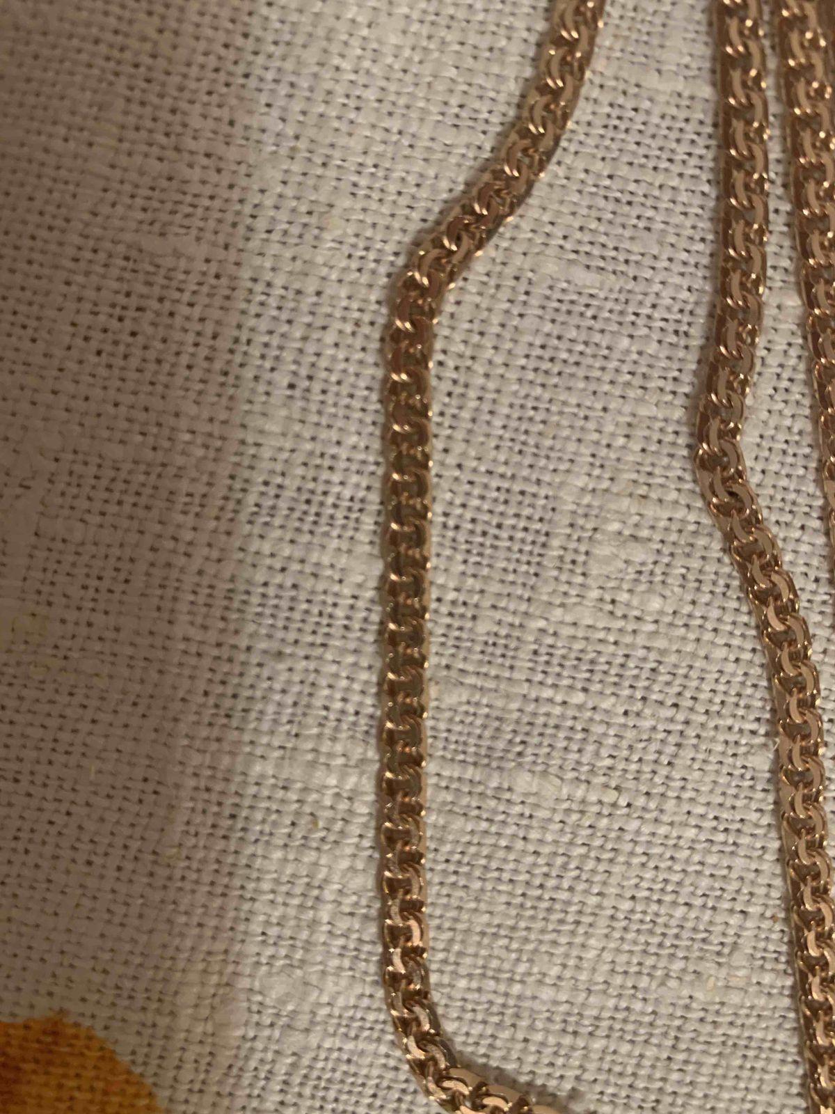 Цепочка мужская плетение бисмарк