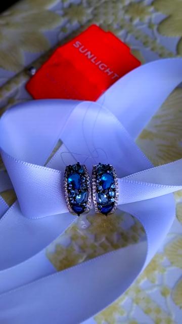 Шикарные серьги морской расцветки