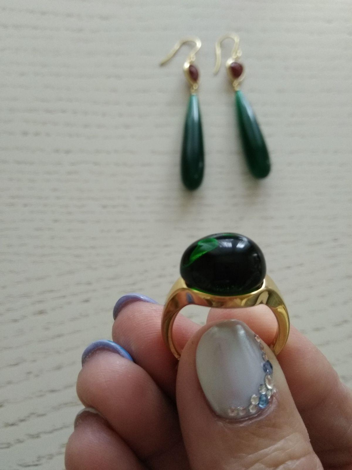 Кольцо с алпинитом