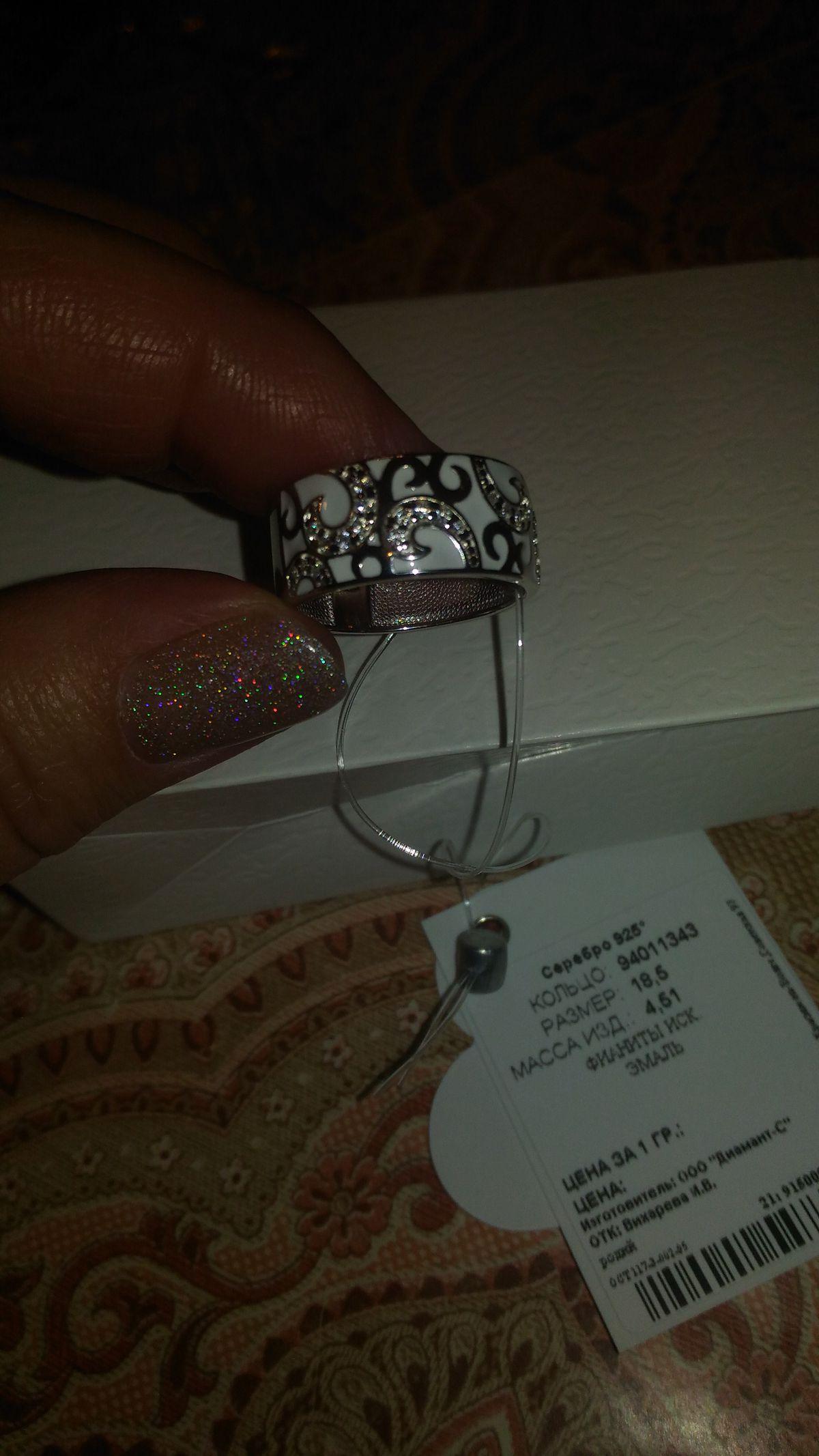 Серебрянное кольцо с эмалью